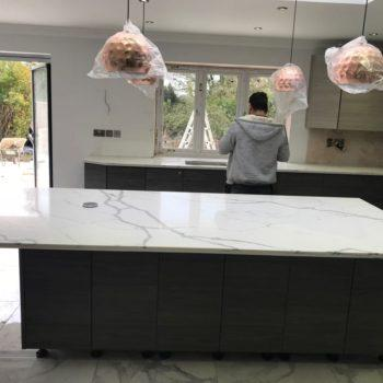 Quartz Kitchen Island Worktops - Inova Stone Slough