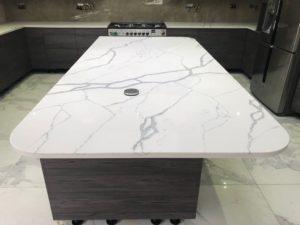 White Quartz Kitchen Worktops - Inova Stone Slough