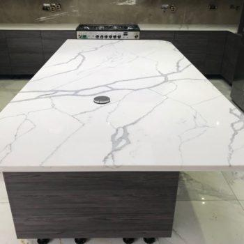 White Quartz Kitchen Worktops - Inova Stone Slough