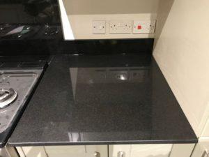 Black Quartz Kitchen Worktops