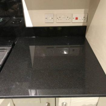 Black Quartz Kitchen Worktops