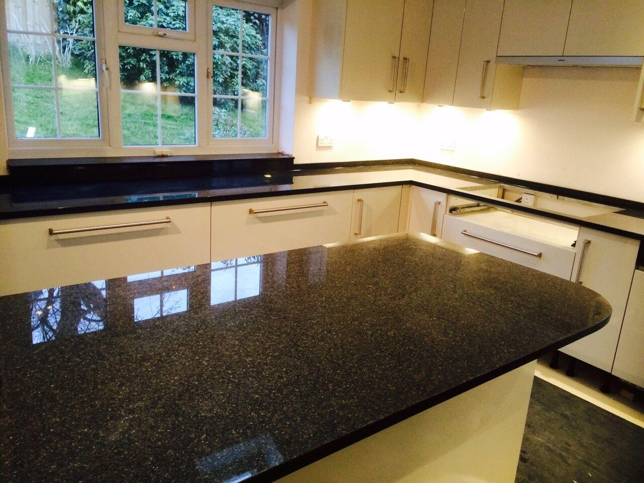 how to clean black marble worktops