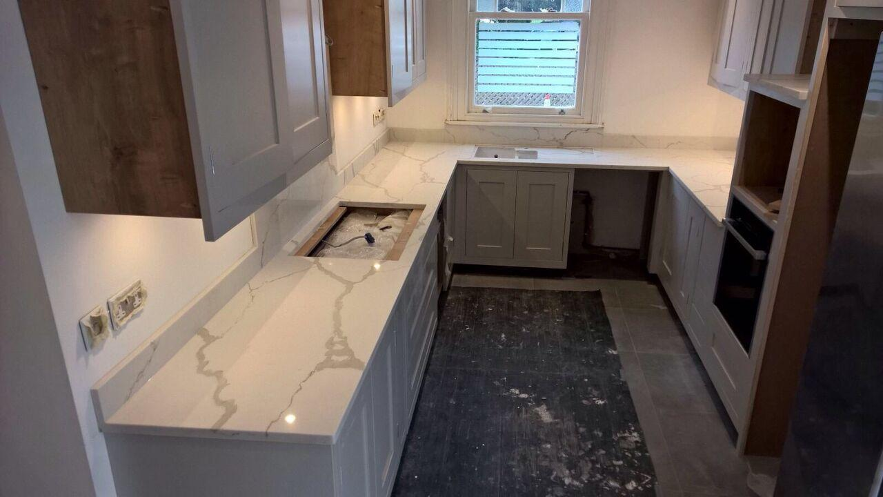 White Kitchen Worktops granite, marble & quartz gallery - inovastones uk