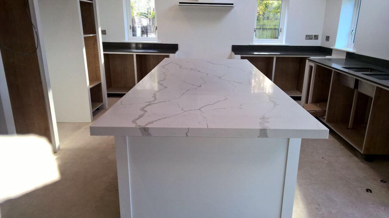 White Kitchen Worktops stone kitchen worktops & countertops - inovastones uk