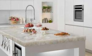 white-marble-kitchen-worktops