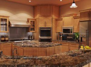 Best Granite Kitchen Countertops For Oak Cabinets | Inovastone