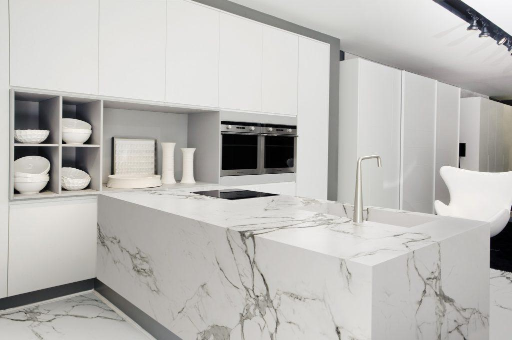 White Kitchen Worktops interesting white kitchen worktops with solid surface throughout