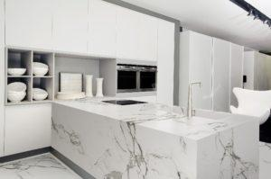 White Marble Kitchen Worktops