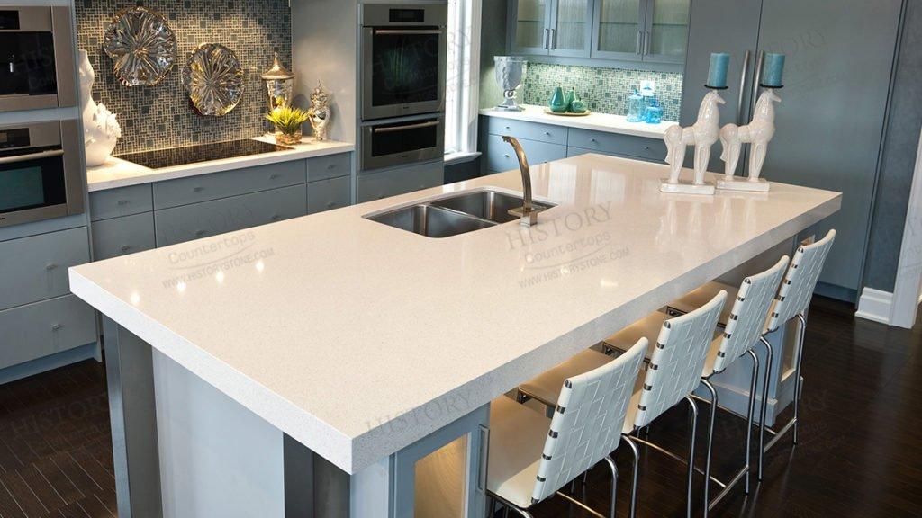 10 pros cons for white quartz countertops inovastone. Black Bedroom Furniture Sets. Home Design Ideas