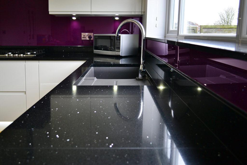 Black Mirror Quartz Worktops In Slough Amp London Area