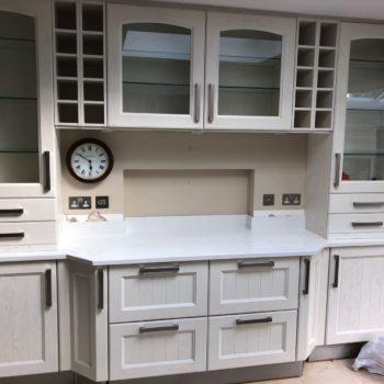 Bespoke Kitchen White Quartz Worktops