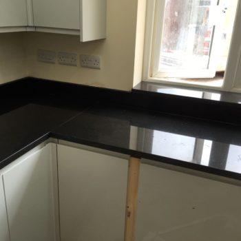 Bespoke Black Kitchen Quartz Worktops