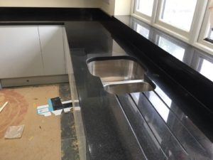 Black Quartz Kitchen Worktops London