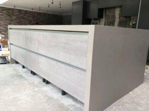 Grey Kitchen Quartz Worktops