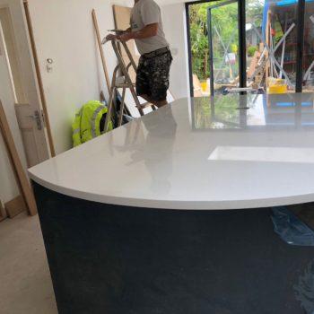 Bespoke Kitchen Quartz Countertops