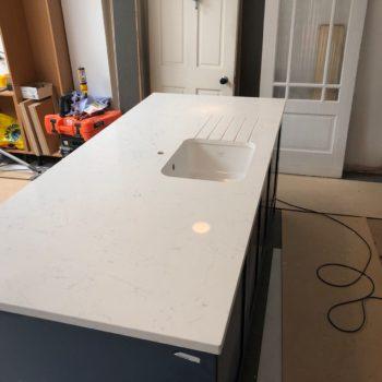 Kitchen Quartz White Worktops