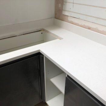 Kitchen White Quartz Worktops