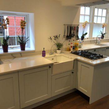 Bespoke White Kitchen Quartz Worktops
