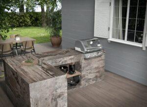 Outdoor kitchen worktops